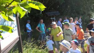 Zuvor gab es auf der Wandertour durch das Limbacher Teichgebiet unheimlich viel zu erkunden und zu bestaunen.